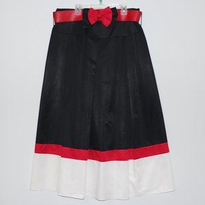 Maxi Skirt With Red Bow Belt Size Large